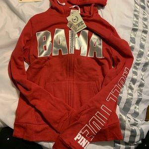 Pink Alabama roll tide hoodie